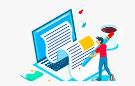 web content writer working